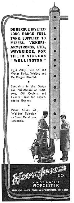 Worcester Sheet Metal De Bergue Riveted Fuel Tanks 1939