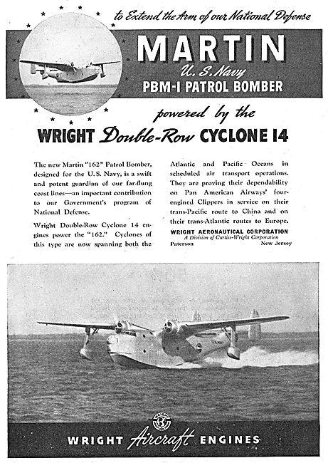 Wright Cyclone 14 Double Row Radial Aero Engine. PBM-1