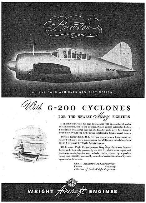 Wright G-200 Cyclone : Brewster Naval Aircraft