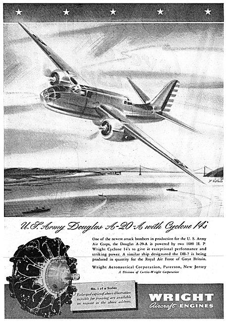 Wright Cyclone - Douglas A-20-A