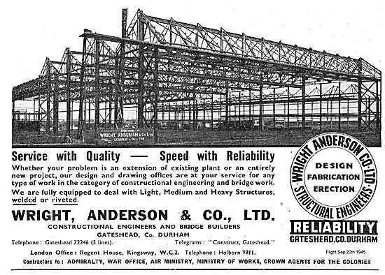 Wright Anderson Constructional Engineers.