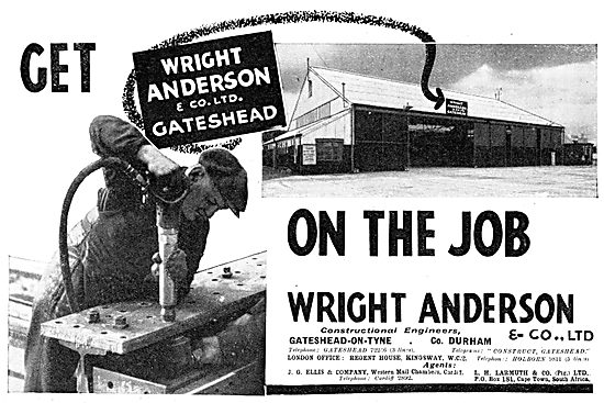 Wright Anderson & Co - Aircraft Hangars. Structural Steelwork