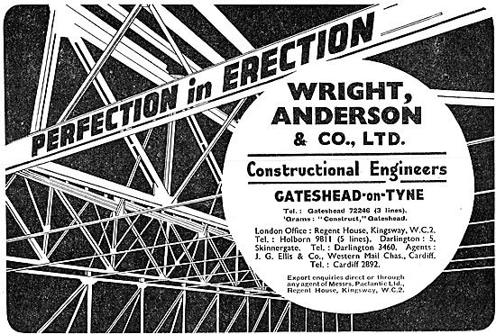 Wright Anderson & Co - Aircraft Hangars, Constructional Steelwork