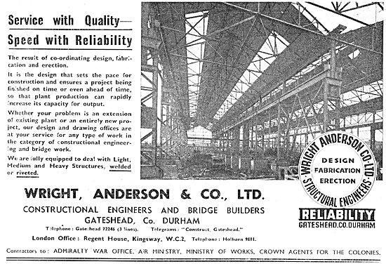 Wright Anderson & Co - Aircraft Hangars