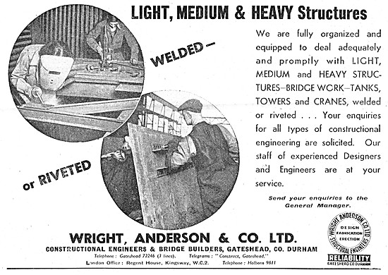 Wright Anderson Constructional Steelwork