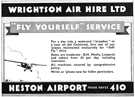 Wrightson & Pearse. Heston Airport. Private Hire