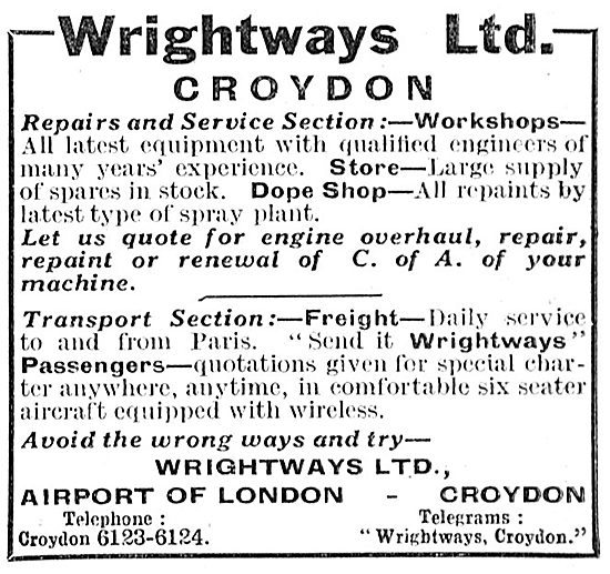 Wrightways Of Croydon - Aircraft Sales & Maintenance