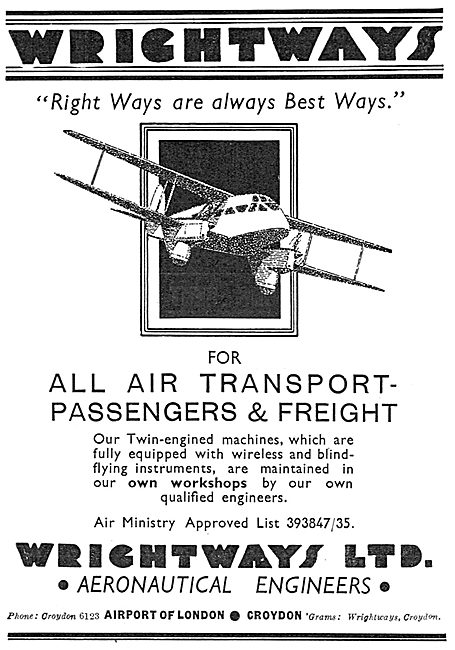 Wrightways Of Croydon - Maintenance & Air Transport Services