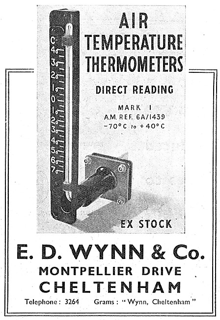 E.D.Wynn 6A/1439 Air Temperature Thermometers