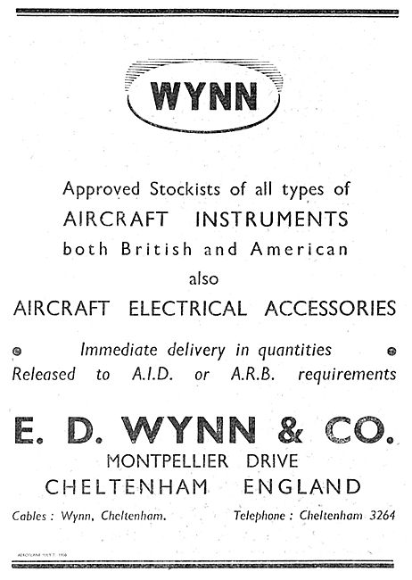 Wynn & Co Approved Aircraft Instrument & Electrical Part Stockist