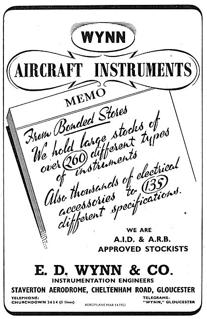 Wynn & Co Aircraft Instrumentation Engineers. Staverton Aerodrome