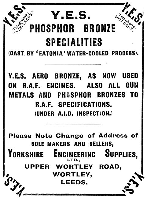 Yorkshire Engineering Supplies : YES Eatonia Phosphor Bronze