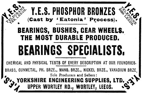 Yorkshire Engineering Supplies : Y.E.S. Eatonia Phosphor Bronzes