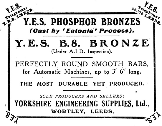 Yorkshire Engineering Supplies : YES  B.S.Bronze