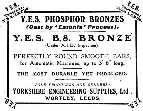 Yorkshire Engineering Supplies : YES  B.S.Bronze
