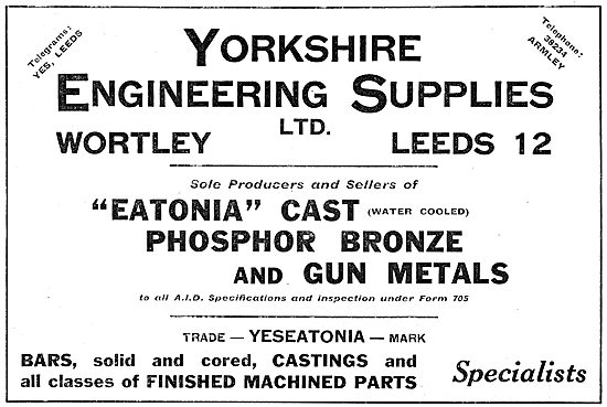 Yorkshire Engineering Supplies : YES Eatonia Phosphor Bronze