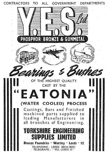 Yorkshire Engineering Supplies : YES Eatonia Bearings & Bushes