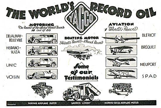 Yacco - The World's Record Aviation Oil