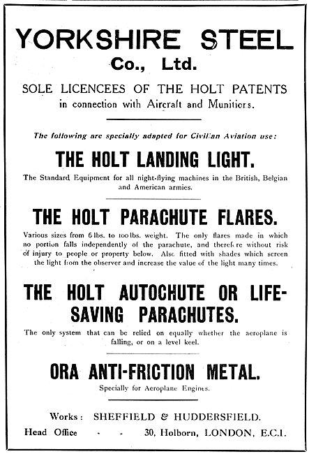 The Yorkshire Steel:  Holt Aircraft Landing Light - Wing Flares