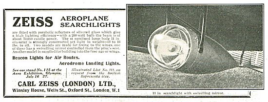 Zeiss Aeroplane Searchlights