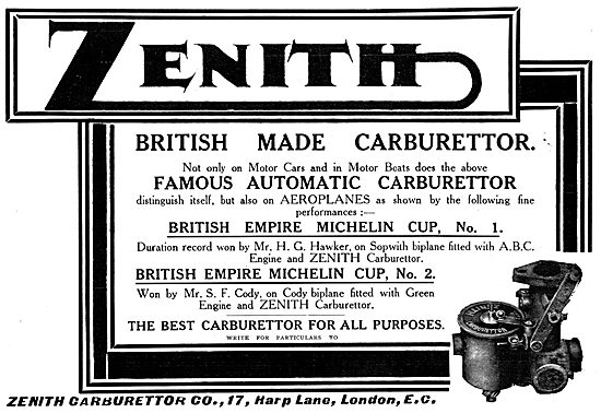 Zenith Aero-Engine Carburetters