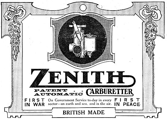 Zenith Carburetters - 1917 Advertisement