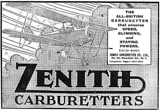 Zenith All British Aero Engine Carburetters
