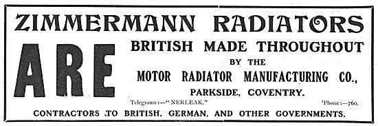 British Made Zimmermann Aero Radiators