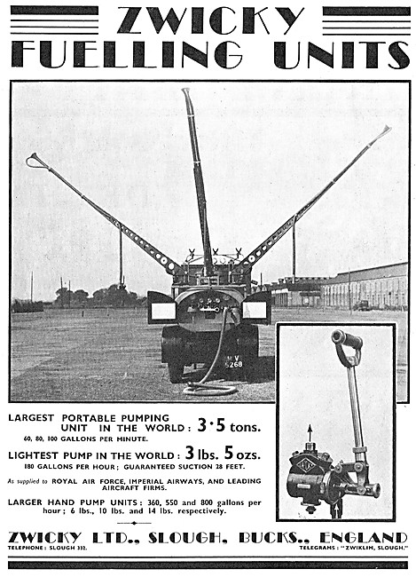Zwicky Portable Pumping Unit For Aircraft Refuelling