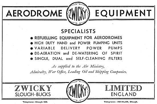 Zwicky Aerodrome Equipment