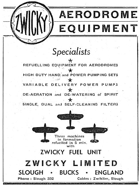 Zwicky Variable Delivery Power Pumps: Aircraft