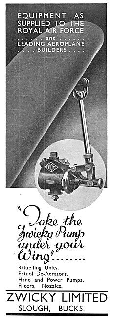 Zwicky Aircraft Refuelling Pumps 1935