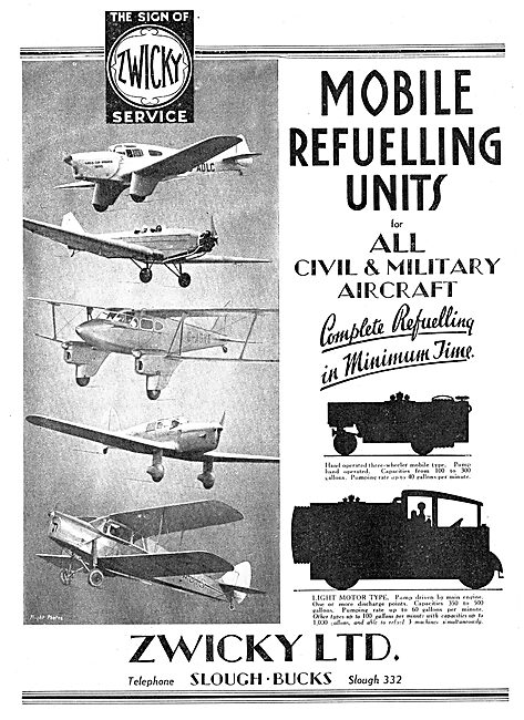 Zwicky Mobile Aircraft Refuelling Units