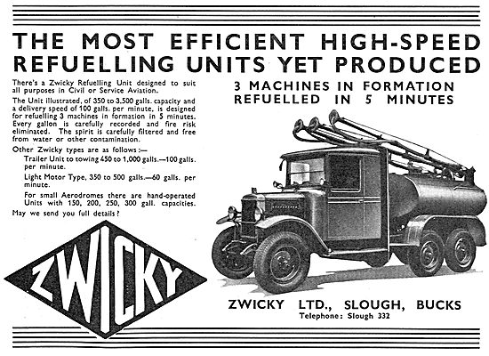 Zwicky Mobile Aircraft Refuelling Units - Fuel Bowser