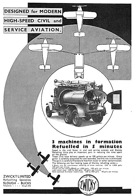 Zwicky Mobile Aircraft Refuelling Units: Simultaneous Capability