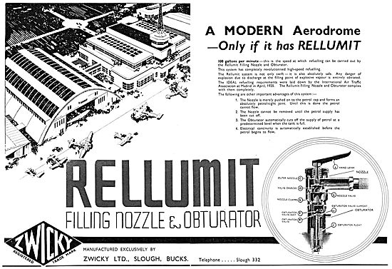 Zwicky Mobile Aircraft Refuelling Units: Rellumit Filling Nozzle