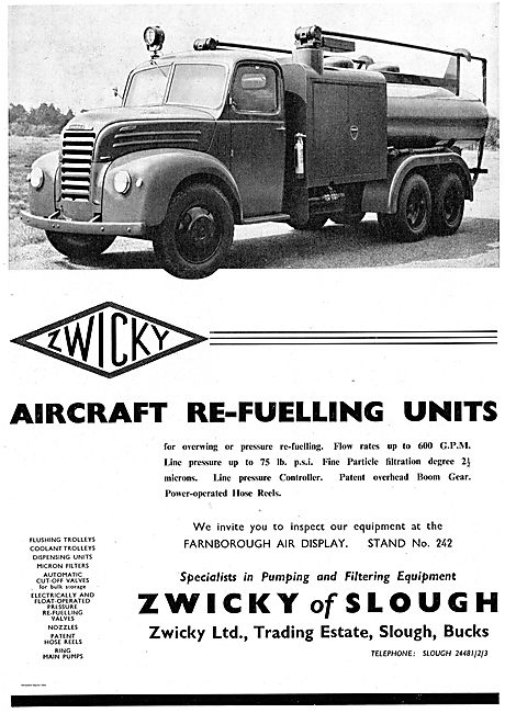 Zwicky Overwing Aircraft Refuelling Unit