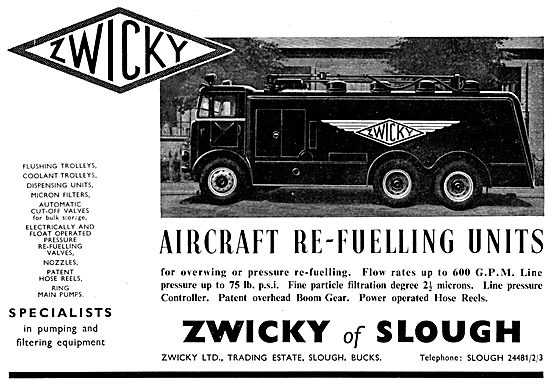 Zwicky Aircrft Re-Fuelling Units