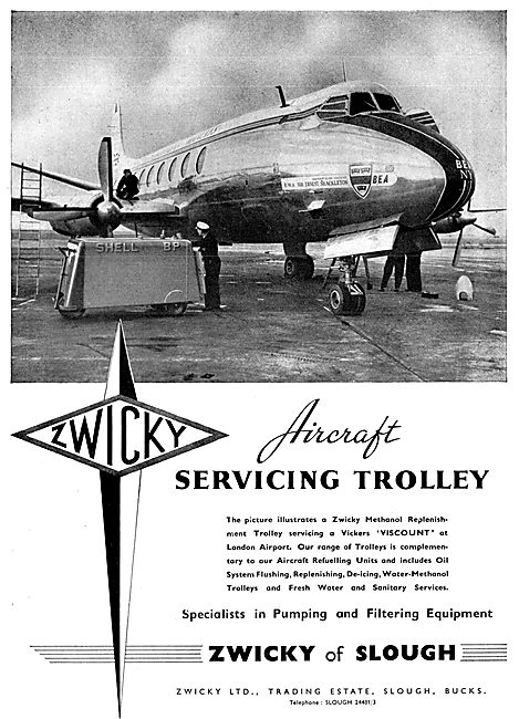 Zwicky Refuelling Equipment - Zwicky Aircraft Servicing Trolley