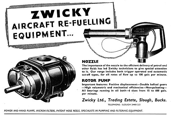 Zwicky Aircraft Refeulling Equipment