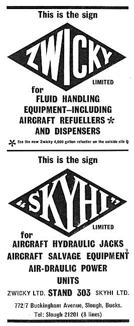 Zwicky Aircraft Refuellers - SKYHI Hydraulic Jacks & Salvage Eqpt