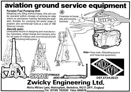 Zwicky Aviation Ground Service Equipment - Skyhi Aircraft Jacks